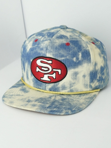 MŨ NÓN SNAPBACK MITCHELL AND NESS NBA ACID WASH DENIM CAP