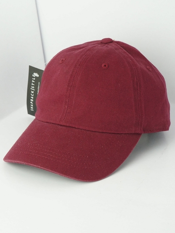Mũ Nón Form Mềm Trơn Top Level Basic Unstructured Dad Hat - Đỏ