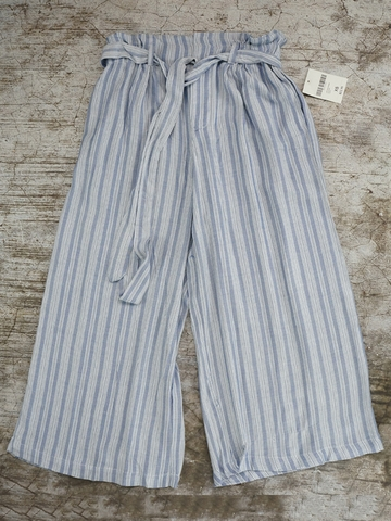 Quần Dài Nữ Forever21 Belted Striped Gaucho Pants
