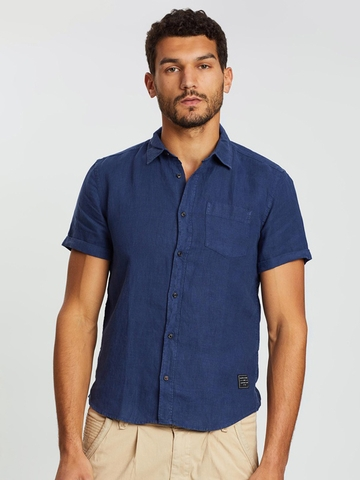 Áo Sơ Mi Tay Ngắn Scotch & Soda Linen Short Sleeve Shirt  Regular fit