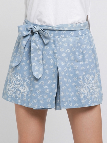 Quần Short Nữ Roem Cotton Printed Shorts