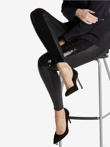 Quần Legging Nữ SPANX Sequin Faux Leather Leggings