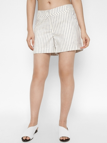 Quần Short Nữ Roem Stripe Hem Folding Shorts