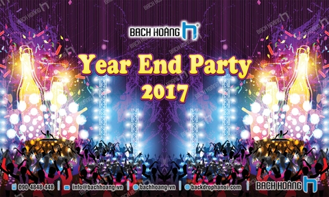 Thiết Kế Backdrop - Phông Year End Party 01