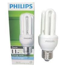 Bóng compact 11W Philips trắng