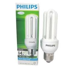 Bóng compact 14W trắng Philips
