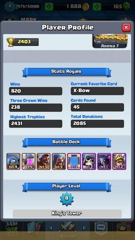 R08 Clash Royale level 8