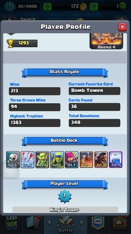 R01 Clash Royale level 7