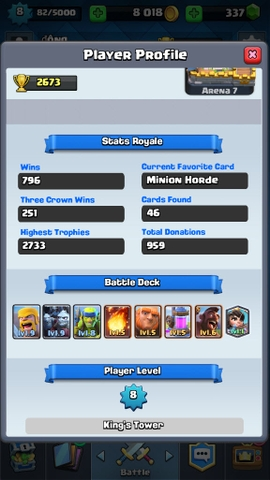 R17 Clash Royale level 8