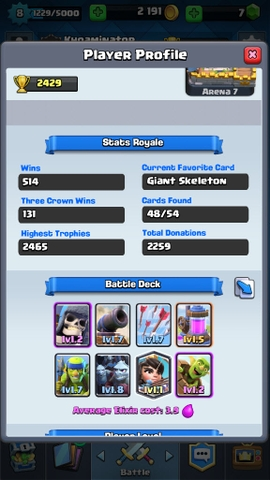 R20 Clash Royale level 8