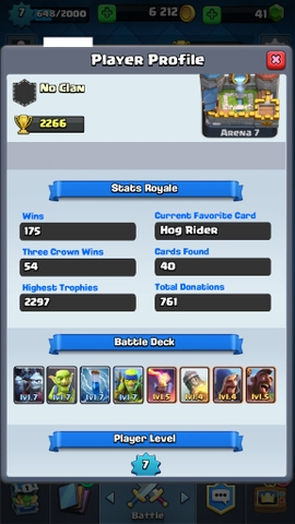R04 Clash Royale level 7