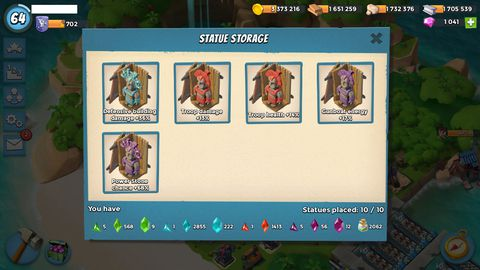 1105) Boom beach level 64, Name change : Available, Power powders 3021, GB 42