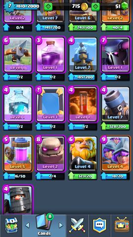 R02 Clash Royale level 7(~8)