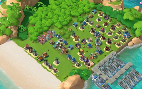 E20)  Boom beach level 58, Name change : Available, Power powders 1000