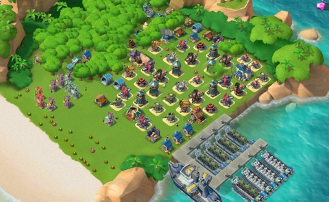 E21)  Boom beach level 61, Name change : Available, Power powders 1207