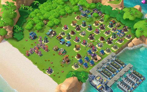 E22)  Boom beach level 61, Name change : Available, Power powders 1442