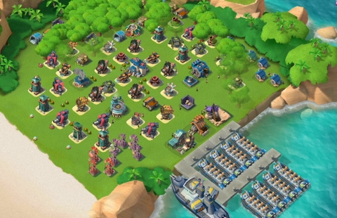 E34)  Boom beach level 62, Name change : Available, Power powders 1451