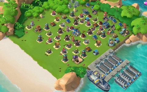 E6)  Boom beach level 61, Name change : Available, Power powders 1743