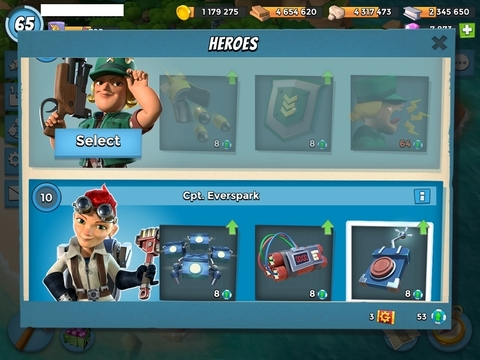 E27)  Boom beach level 65, Name change : Available, Power powders 3087, GB 42, 8k diamonds