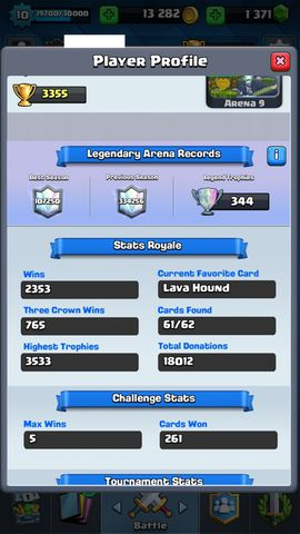 R91 Clash Royale LVL 10, Legendary: (Princess lvl 1, Ice Wizard lvl 2, Miner lvl 2 , Lava lvl 2, Sparky lvl 2, Lumberjack lvl 2, Inferno Dragon lvl 1, The log lvl 2)