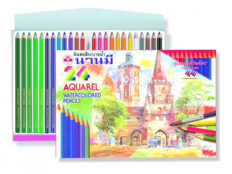 Chì màu nước NM-24 watercolor pencils