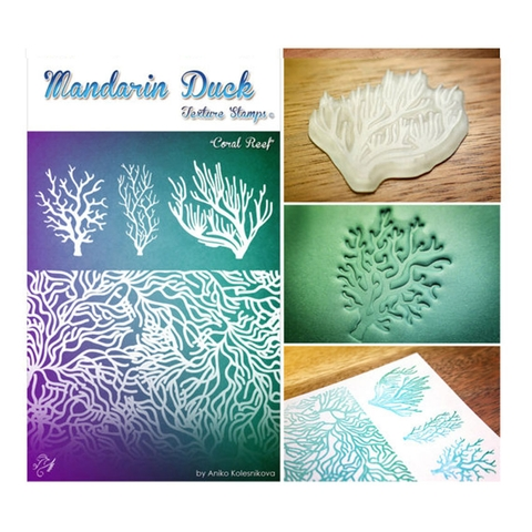 Silicone in họa tiết Madarin Duck - Texture Stamps - Coral Reef
