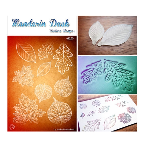 Silicone in họa tiết Madarin Duck - Texture Stamps - Fall