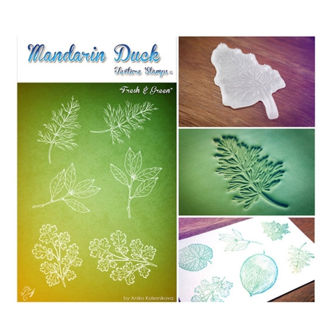 Silicone in họa tiết Madarin Duck - Texture Stamps - Fresh & Green