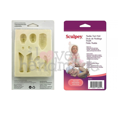 KHUÔN BÚP BÊ SCULPEY INFANT PUSH MOLD