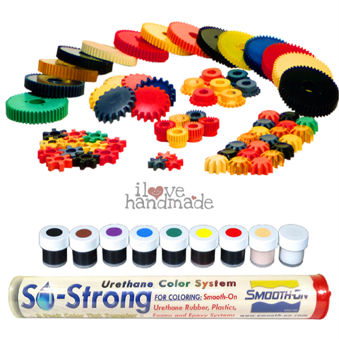 Màu pha resin, rubber, plastic - Smooth-on So-Strong Urethane color system set mini 9 màu