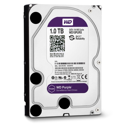 Ổ cứng HDD WD Purple 1TB 3.5