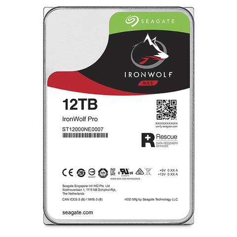 SEAGATE IronWolf Pro ST12000NE0008 Dung lượng 12000GB (12TB) 3.5