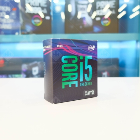 Bộ vi xử lý Intel Core i5-9600K (3.7GHz turbo up to 4.6GHz, 6 nhân 6 luồng, 9MB Cache, 95W) - Socket Intel LGA 1151-v2  Full box