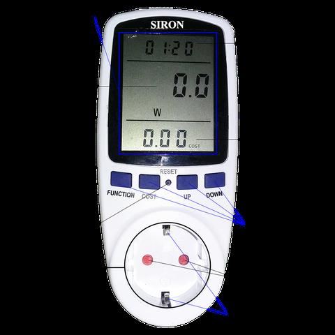 Ổ cắm đồng hồ đo công suất dòng điện điện áp thiết bị điện
