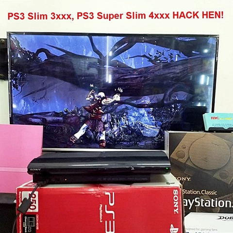 PS3 Super Slim 250GB  hack HEN, 2tay ( ĐÃ COP 18 GAMES )