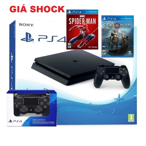 PS4 Slim 500GB- SONY VN kèm 2 tay + 2 game .