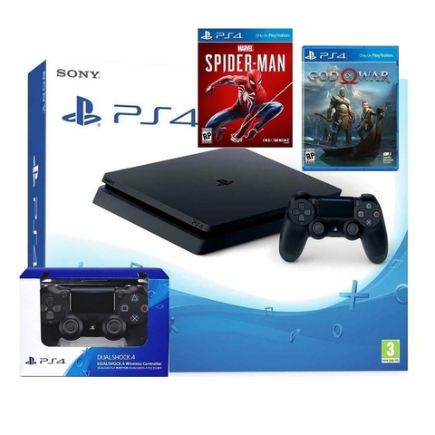 PS4 Slim 1TB- SONY VN 2 tay + 2 game