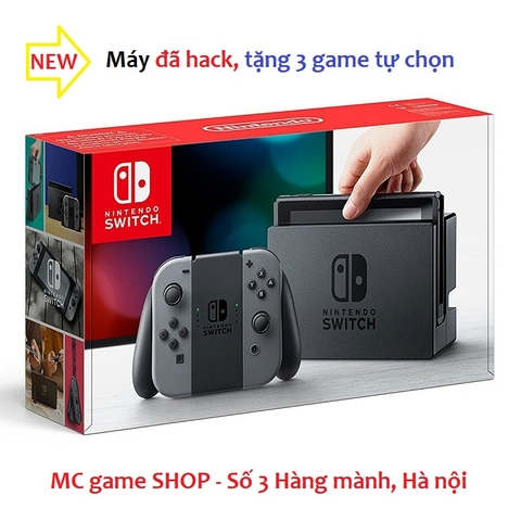 Switch with Gray Joy‑Con đã hack, tặng 3 games