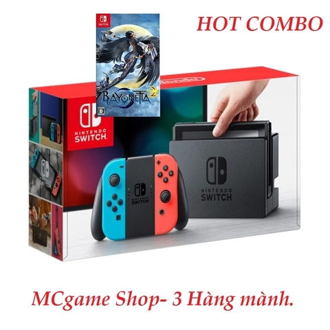 Switch Neon Blue and Red Joy‑Con, game Bayonetta 2