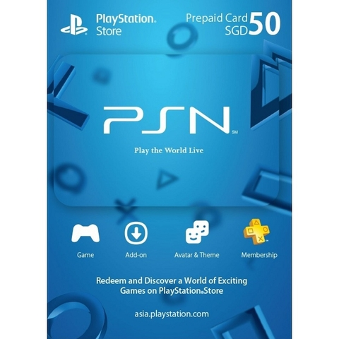 PSN Card 50$ SGD- Singapore