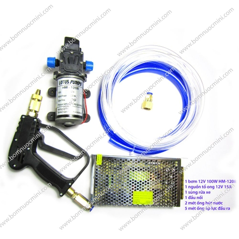 bộ rửa xe áp lực HM-1208