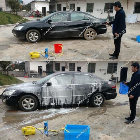 bơm áp lực xịt rửa rửa xe