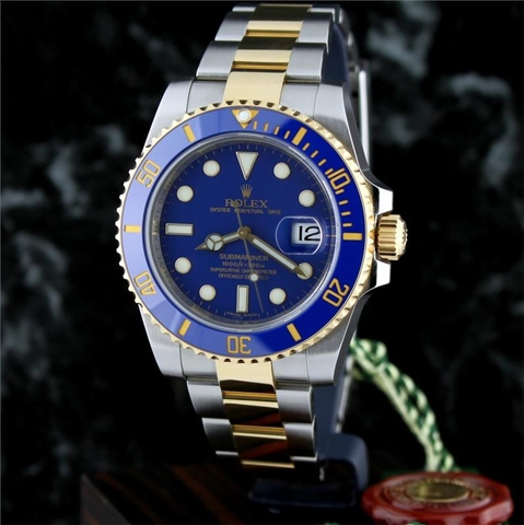 Rolex Submariner Blue - Ceramic & Gold 18K - Automatic Cao cấp R.1000