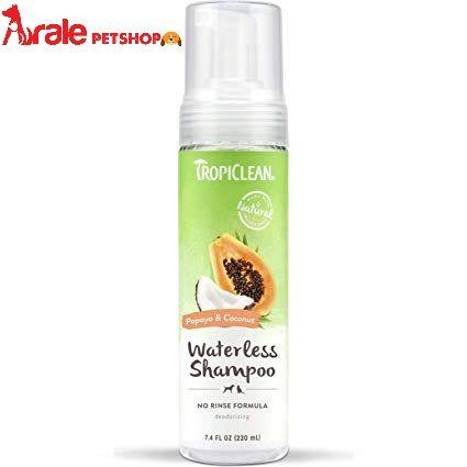TROPICLEAN WATERLESS SHAMPOO PAPAYA