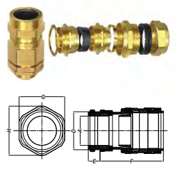 ỐC SIẾT CÁP E1W (INDUSTRIAL CABLE GLANDS)