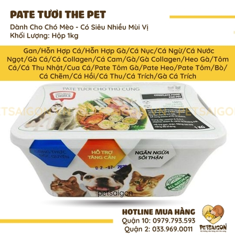 Pate Tươi The Pet - 1Kg