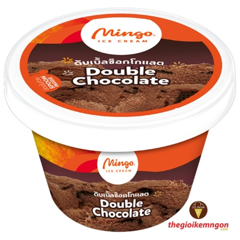 Kem ly socola Double Chocolate Cup Mingo 120ml