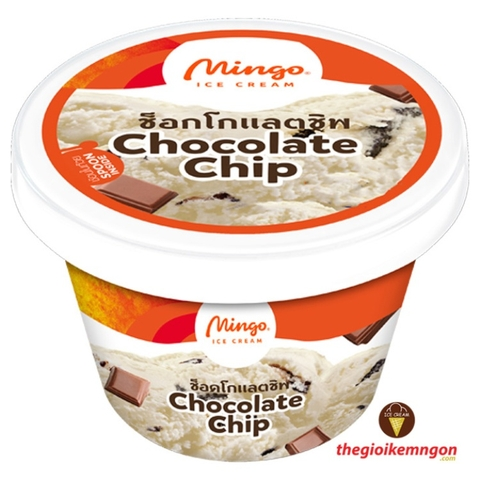 Kem ly socola vụn Chocolate Chip Cup Mingo 120ml