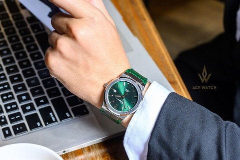 SALVATORE FERRAGAMO SFDT00119 CLASSIC F-80 GREEN WATCH - 41MM
