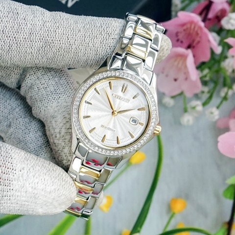 CITIZEN FE1144-69A SILHOUETTE - NỮ - ECO-DRIVE - KÍNH CỨNG - 30MM